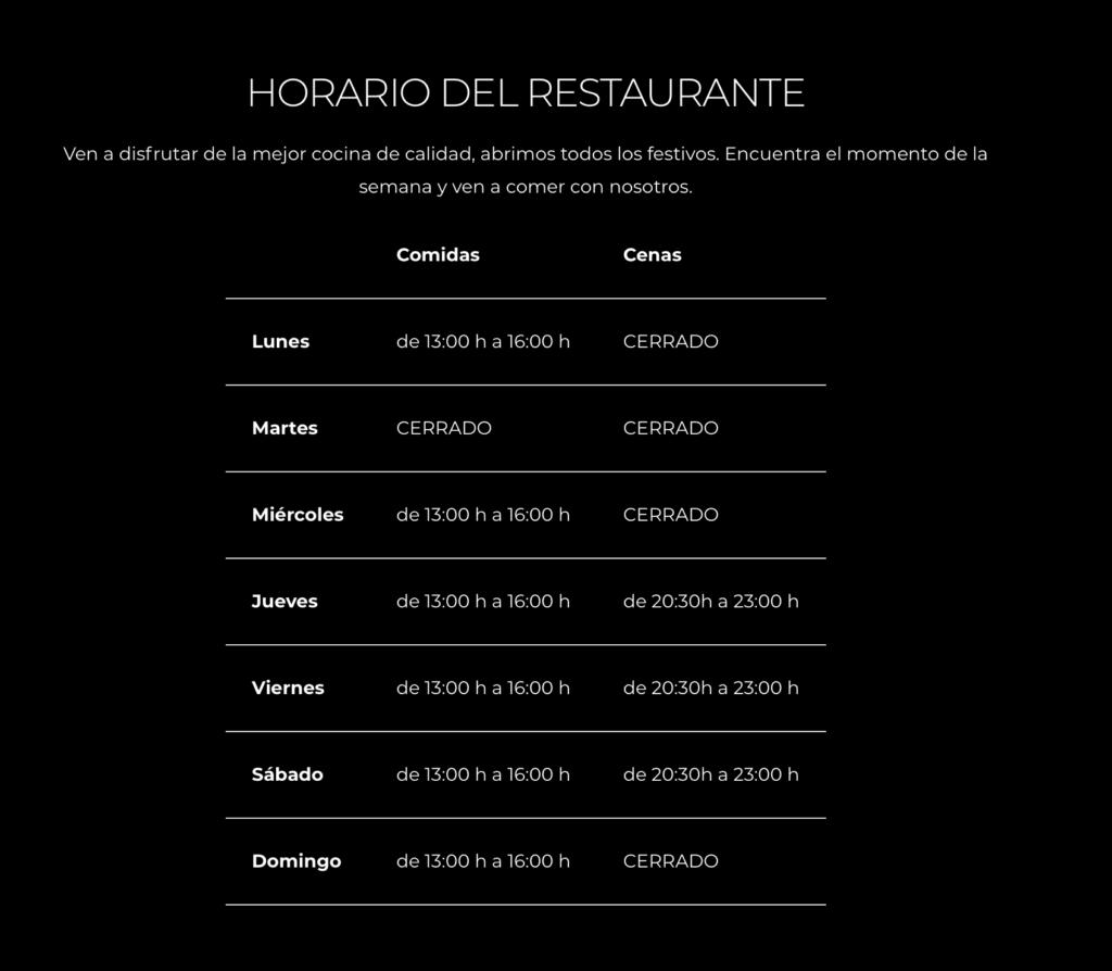 horario sant marti restaurant