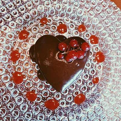 receta tarta sacher en san valentin